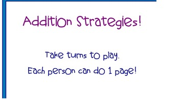 Smartboard Math - Using different Addition Strategies Game