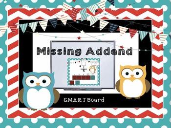 Smartboard Missing Addend Interactive Lesson