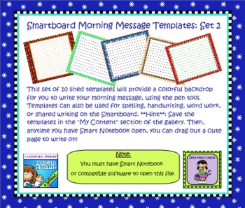 Smartboard Morning Message Templates Set 2