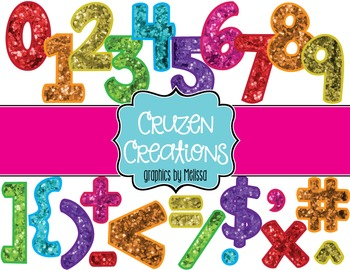 Smartboard/Bulletin Board Glitter Number Multi-Pack