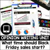 Opinion Essay Writing Set - Black Friday Sales Start Time