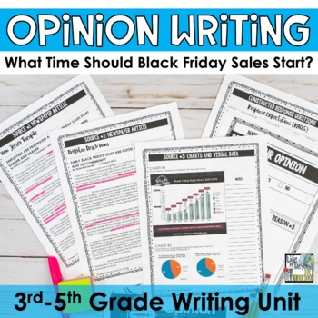 Opinion Essay Writing Set - Black Friday Sales Start Time