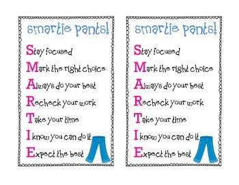 FREEBIE: Smartie Pants FCAT, SAT, Test Encouragement