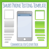 Smartphone Texting Template Clip Art Pack for Commercial Use