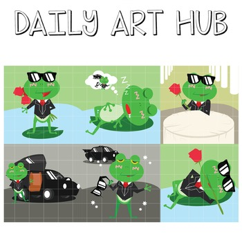 Smexy Frog - Great for Art Class Projects!