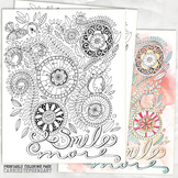 Smile More Coloring Page, Be Happy, Mood & Feelings Activi