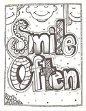 Smile Often Coloring Sheet