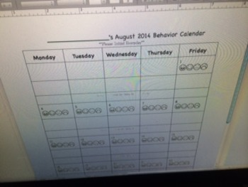 Smiley Face Behavior Calendars August 2014-July 2015