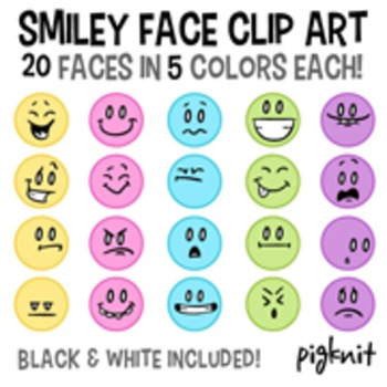 Smiley Face Clip Art, Emoticon Clip Art -- Happy, Sad, Lau
