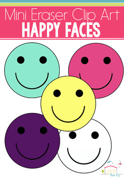 Smiley Face Mini Eraser Clip Art