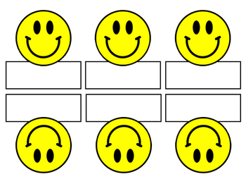 Smiley Face Name Cards