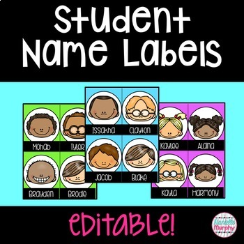 Smiley Face Name Tags/Labels--Editable