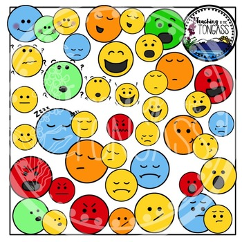 Smiley Face and Other Emotions Clipart Bundle