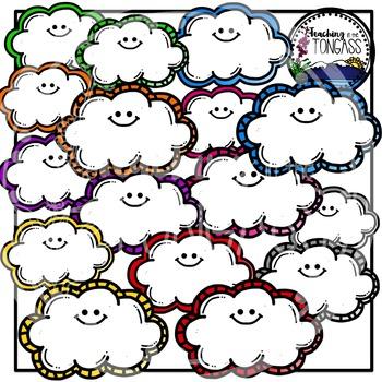 Clouds Clipart Bundle
