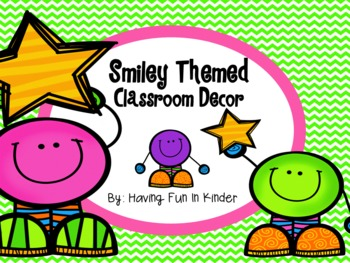Smiley Face Classroom Decor - Pink and Green