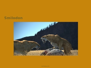 Smilodon - extinct - Power Point - Information History Fac