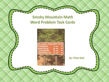 Smoky Mountain Math Word Problem Task Cards