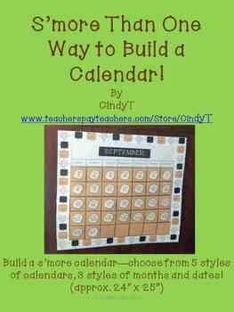 S'more Calendar for the classroom