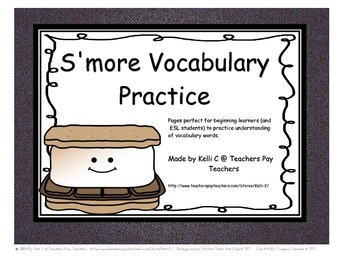S'more Great Vocabulary (for writing vocbabuly and sentenc
