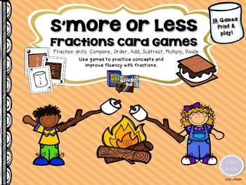 S'more or Less Fractions Card Games