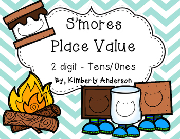 S'more's Place Value Match Practice - 2 digit: Tens / Ones