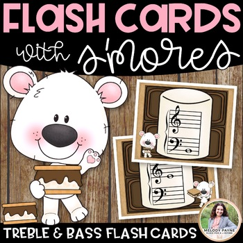 Treble and Bass Clef Flash Cards for Elementary Music Students