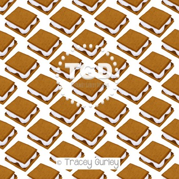 S'mores digital paper Printable Tracey Gurley Designs