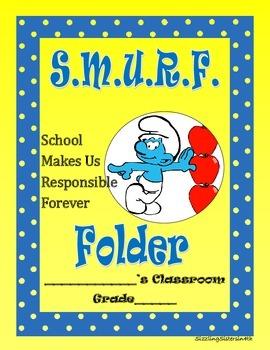 Smurf Themed Folder