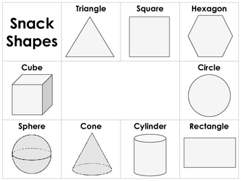 Snack Shapes Placemats