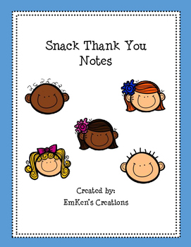 Snack Thank You Notes