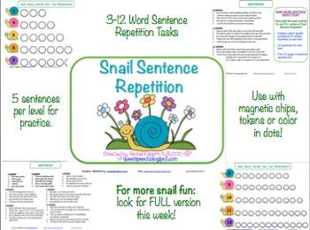 Snail Sentence Repetition