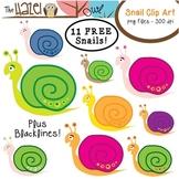 FREE Snail Set: Clip Art Graphics for Teachers