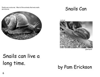 Snails Can- a non-fiction guided reading book