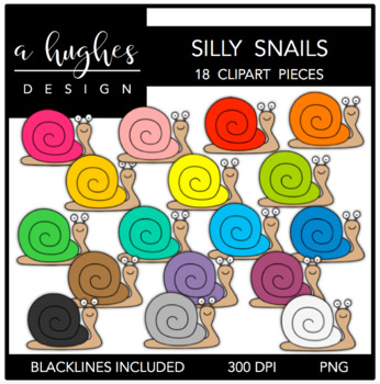 Silly Snails {Graphics for Commercial Use}
