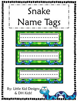 Snake Name Tags - Printable Name Tags