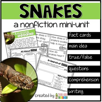 Snakes Nonfiction Reading