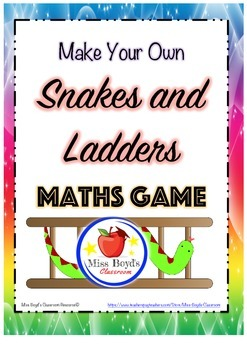 Snakes and ladders math game