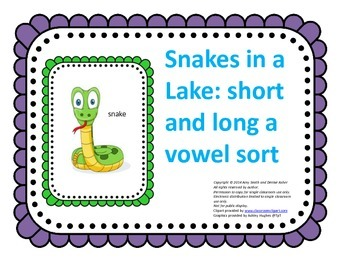 Long/Short Vowel Intervention: a Vowel Sort Center (K-2, 13pgs.)