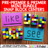 Sight Word Games  Math Center with Snap Blocks