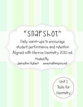 """""""Snapshot"""" {Integrated Geometry & Algebra 1 Daily Warmups}"""