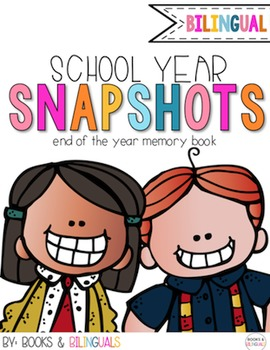 Snapshots End of Year Memory Book {Bilingual}