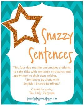 Snazzy Sentences- English II