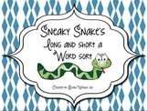 Sneaky Snake's Long and Short A Word Sort
