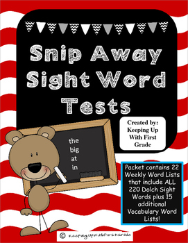 Snip Away Sight Words