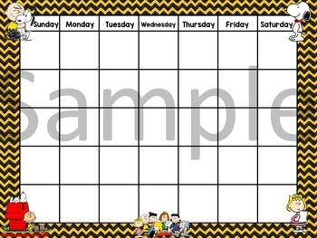 Snoopy Charlie Brown Calendar