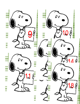 Snoopy Classroom Numbers