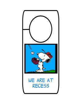 Snoopy We are at Door Hangers