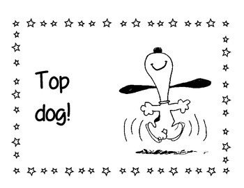 Snoopy and the Peanuts Gang Behavior clip chart