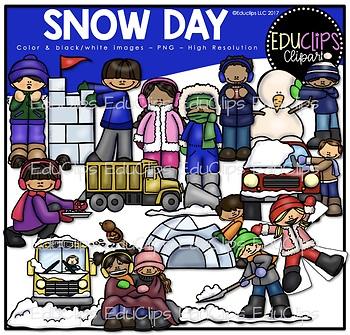 Snow Day Clip Art Bundle {Educlips Clipart}