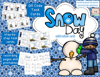 Snow Day! - Estimate to Add and Subtract #happy2016